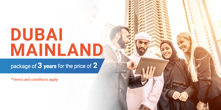 Dubai Mainland package 3 years for the price of 2