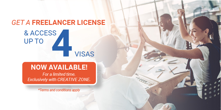 Get a freelancer license & access up to 4 visas allocation