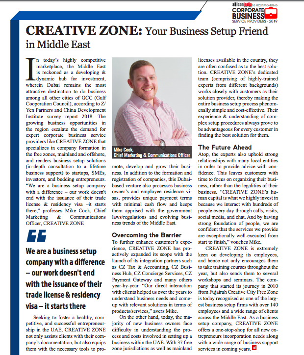 CREATIVE ZONE: Your Business Setup Friend in Middle East